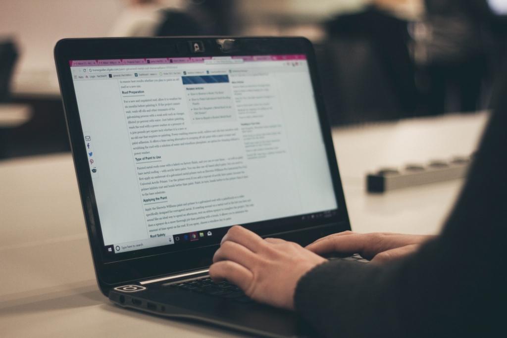 ordinateur page blog